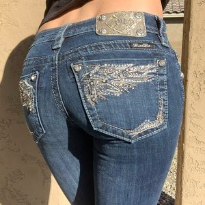 Size 00 / 23 Miss Me Boot Cut Jeans